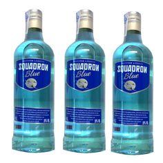 Vodka Squadron Blue 70 Cl 20º - LOT DE 3
