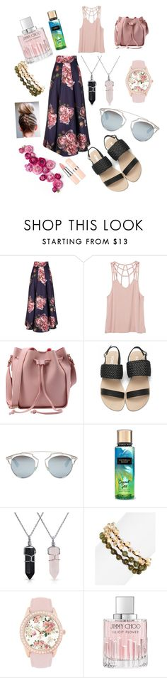"""""""set38"""" by mujo-ziba ❤ liked on Polyvore featuring RVCA, Christian Dior, Bling Jewelry, Lizou, Jessica Carlyle and Jimmy Choo"""