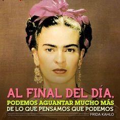 """Con su característica prácticidad, Frida Kahlo reconoce , en esta frase compartida por Regia D'Monterrey en su tablero """"Spanish Quotes"""" en Pinterest, el habitual darse cuenta que se hizo más de l..."""