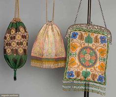 Three Beaded Bags, 1900-1920s, Augusta Auctions, November 12, 2014