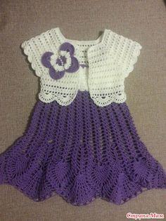 Crochet dress set toddler