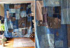 Japanese boro cloth futon cover