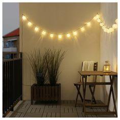 SOLARVET LED string light with 24 lights – outdoor solar-powered, ball white – IKEA – String Lights Outdoor Lantern String Lights, String Lights Outdoor, Wall Lights, Outdoor Lamps, Outdoor Ideas, Ikea Outdoor, String Lighting, Outdoor Fairy Lights, White String Lights