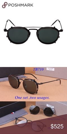 6ddc734790 THOM BROWNE TB-710 Eyewear THOM BROWNE TB-710 Optical Eyewear with Sun Clip  in Original Box Thom Browne Accessories Sunglasses. SoloKingWay