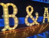 """SALE 16"""" Big Vintage Style Marquee Letters Wood...........       A B C D E F G H I J K L M N O P Q R S T U V W X Y Z"""