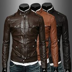 Slim Fit Men Fashion Leather Jacket | Sneak Outfitters