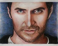 Richard Armitage Print of colored pencil drawing by CJepsenFineArt