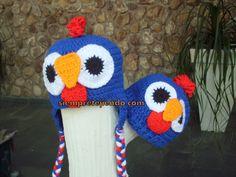 http://siempretejiendo.blogspot.com.br/2014/05/gorro-galinha-pintadinha.html