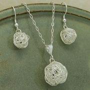 wire ball earrings