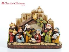 Nacimiento / Nativity Set Nativity Creche, Christmas Nativity Scene, Noel Christmas, Xmas, Christmas Ornaments, Nativity Sets, O Holy Night, Cute Clay, Christmas Illustration
