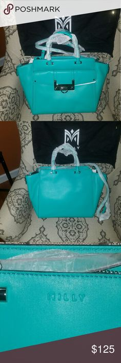 Milly Tote reg retail$425 All leather amazing bag never carried Milly Bags Totes