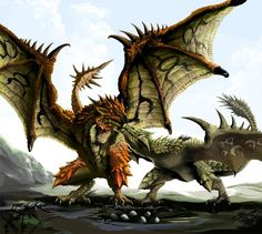 """Rathian is the ever faithful female counterpart of Rathalos. Known as the """"Queen of the Land"""" she perfectly compliments the """"King of the Sky"""" Rathalos."""