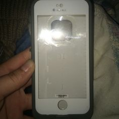 iPhone 5s White Life Proof Case iPhone 5s white life proof case, been worn a couple of times but in great condition, has a little teeth mark from where my little niece chewed on it. WILL NEGOTIATE THE PRICE, JUST ASK! LifeProof Accessories