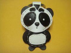 Custom made panda leather keychain by leatherprince, via Flickr.