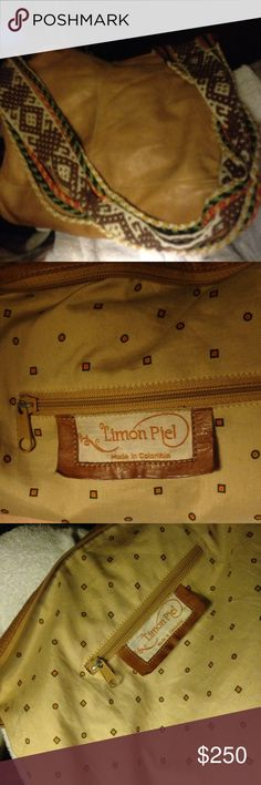 Limon Piel leather purse made in Columbia Not used often and in very good condition besides a small pin mark on inside and a small little dot on the top of purse that is a light green from a pin but other than that it is in really great condition and was barely used!!Its very roomy and light weight ,it's a wonderful purse!!Beautiful item!!!! Limon Piel  Bags Crossbody Bags
