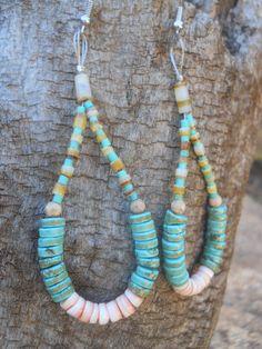 Native American  Earrings Turquoise Traditional Jacla Earrings
