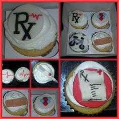 Rx cupcakes fondant details