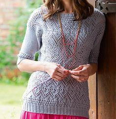 Ravelry: Diamantine sweater pattern by Sarah Hatton