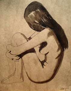 """Loui Jover; Pen and Ink, 2011, Drawing """"modesty"""""""