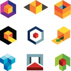 Vector Art : Creative 3d cube body for professional company logo icon