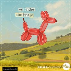 Wonder Aimlessly by Jason Kotecki Wonder Aimlessly. Balloon Animals, Colorful Artwork, Art Archive, Framed Prints, Canvas Prints, Best Friends Forever, Time Art, Disney Characters, Fictional Characters