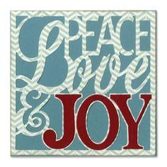 Sizzix Thinlits Die Set 4PK - Card Front, Peace, Love & Joy £20.99
