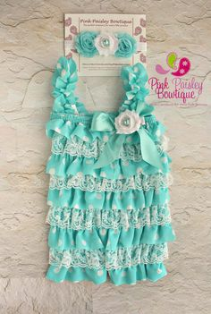 Hey, I found this really awesome Etsy listing at http://www.etsy.com/listing/163610788/petti-romper-3-pc-set-aqua-polka-ruffle