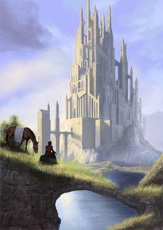 castle sunrise by digital-fantasy.deviantart.com on @deviantART
