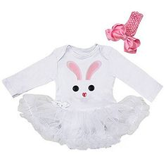 Buttons Bunny Bodysuit Large White *** Click on the image for additional details.