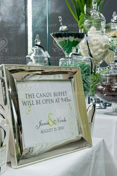 sign for candy buffet