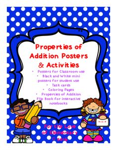 Properties of Addition Posters and Activities by For the Love of Elementary | Teachers Pay Teachers