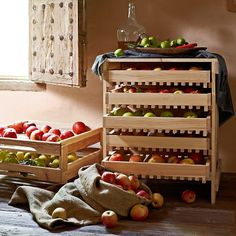 Wood Five-Drawer Apple Rack #williamssonoma