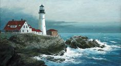 This beautiful lighthouse at Cape Elizabeth, Maine is the oldest in our country. Comissioned for service by President George Washington, Portland Head Light is among the most recognized structures on the rocky New England coast.     Living within hours of so many of the great lighthouses here in Maine is fantastic.