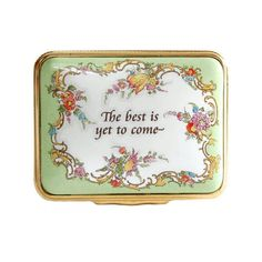 Halcyon Days Enamel Box Vintage Bilston Battersea Trinket Box Gift Box... ($68) ❤ liked on Polyvore featuring home, home decor and small item storage