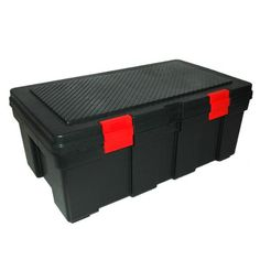 GSC SL3500 Storage Locker Black With Red Latches * Want To Know More, Click  On