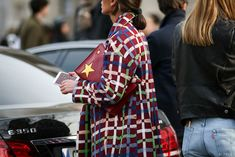 84 Outfit Ideas For Style Extroverts #refinery29  http://www.refinery29.com/2015/03/83675/paris-fashion-week-2015-street-style#slide-32  A gold star for this painted-on coat!