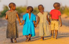 These Malawian children are on their way to school, where they hope to learn enough to create a bright future for themselves and their country... Via hellomagazine.com