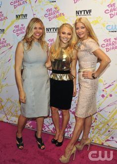 Opening night of the New York Television Festival Kicks off with the Red-Carpet World Premiere of The Carrie Diaries, which premieres in January on the CW Network. Pictured (L-R): Amy B. Harris, Executive Producer, AnnaSophia Robb, and Executive Producer Candace Bushnell. Photo: Timothy Kuratek/ The CW © 2012 The CW Network. All Rights Reserved
