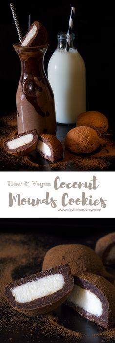 #raw #vegan Coconut Mounds Cookies | Deviliciously Raw