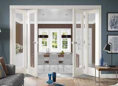 Glass bi fold doors