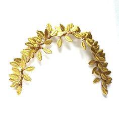 Gold leaf hair vine laurel headband leaf by LaBelleEpoqueAntique