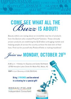 Come join me as I launch my Rodan + Fields business on Monday, October 28!