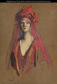 Study For Portrait Of Lady Diana Cooper - Sir John Lavery ...