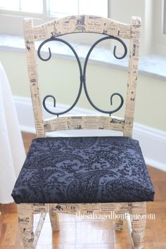 decoupage chair seat