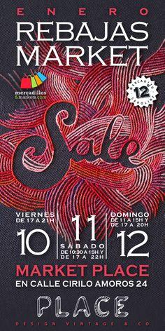 Rebajas Market, 10, 11 y 12 de Enero en Place, Cirilo Amoros 24, Valencia.