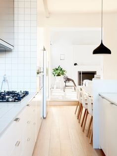 white cabinets + whi