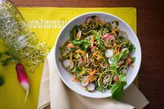 Radish sprouts add a juicy bite to this Cleanse-friendly salad.