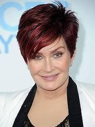 Sharon Osbourne pixie cut.