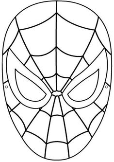 Spiderman Mask Printable Coloring Page For Kids Pages Of