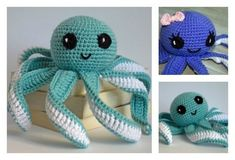 Looking for free crochet patterns of toys or stuffed animals? This adorable little baby amigurumi octopus is easy to make, even for beginners.